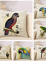 Set Of 6 Classical 3D Parrot Printing Pillow Cover Creative Square Sofa Cushion Cover Home Decor Pillow Case
