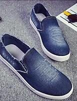Herren Loafers & Slip-Ons Komfort Denim Jeans Frühling Normal Marinenblau Blau Flach