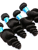 Vinsteen Brazilian Loose Wave Hair Weave 4 Bundles Virgin Human Hair Extensions Natural Human Hair Weave Medium Curly Human Hair Bundles