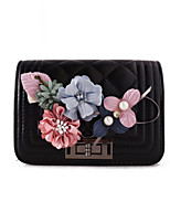 Women Shoulder Bag PU All Seasons Formal Casual Wedding Outdoor Office & Career Flap Twist Lock Brown Black White