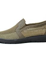 Herren Loafers & Slip-Ons Komfort Tüll Jahreszeiten Sommer Normal Walking Komfort Flacher Absatz Grau Armeegrün 2,5 - 4,5 cm