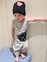 Baby Infants And Young Children Cotton Fashion Cartoon Pattern Sleeveless Clothing Jumpsuit Climb Clothes