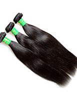 Raw 8a indiano reta virgem remy extensões de cabelo humano tece 3bundles 300g muito natural cor preta textura suave de seda boa qualidade