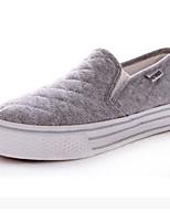 Для женщин Мокасины и Свитер Удобная обувь Полотно Ткань Весна Повседневные Удобная обувь Белый Черный Серый На плоской подошве