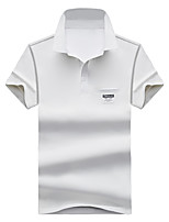 Men's Business Other Daily Casual Simple Summer Polo,printing Shirt Collar Short Sleeve Cotton Medium