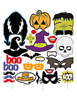 24pcs Halloween Photo Booth Props Photobooth Party Decoration