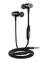 langsdom eh360 3.5mm 범용 헤드폰 스테레오 귀마개 및 마이크, 삼성 전자 기장, 화웨이 아이폰 폰용