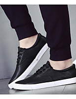 Men's Sneakers Comfort Canvas PU Spring Casual Comfort White Black Blue Flat