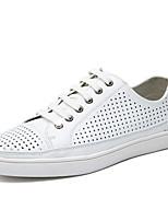 Da uomo Sneakers Comoda Di pelle Primavera Estate Autunno Casual Footing Comoda Più materiali Piatto Bianco Nero Blu marino Piatto