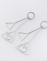 Per donna Orecchini a goccia Di tendenza Euramerican Rame Vetro Di forma geometrica Triangolare Gioielli Per Casual 1 paio
