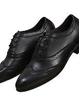Men's Oxfords Formal Wedding Comfort Cowhide Leather Spring Winter Office & Career Party & Evening Suit Loafer Shoes Black/Brown/White