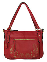 Kate&Co. fashion retro carved leather handbag TH-2064 red laser