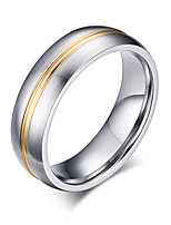 Band Rings Fashion Vintage Simple Style Titanium Steel Rose Gold Plated Ring Jewelry For Wedding Party