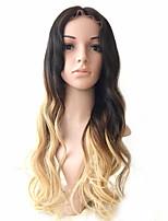 130% de perucas de cabelo humano de densidade ombre t # 1b / # 4 / # 27 moda onda peruca de renda completa peruca de cabelo virgem cabelo