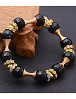 Women's Strand Bracelet Natural Friendship Movie Jewelry Fashion Vintage Crystal Agate Alloy Geometric Jewelry ForWedding Party Special