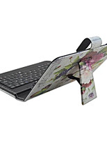 iPad Case with Keyboard USB English Version 7-8 inch Universal Butterfly Flower PU leather Case For IPAD Mini123 Mini4