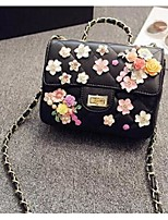 Women Shoulder Bag PU All Seasons Casual Flap Snap Blushing Pink Black White