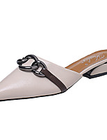 Women's Sandals Comfort Slouch boots PU Spring Summer Casual Walking Comfort Slouch boots Flat Heel Beige Green Flat