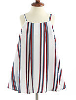 Girl's Stripes Dress,Cotton Sleeveless
