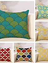 Set Of 6 Vintage Geometry Pattern Pillow Cover Personality Square Pillow Case Sofa Cushion Cover