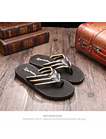 Men's Slippers & Flip-Flops Comfort Tulle Summer Casual Comfort Brown Black Flat