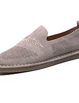 Men's Sneakers Comfort Light Soles PU Spring/Fall Casual Outdoor Comfort Light Soles Lace-up Flat Heel Khaki Gray Beige Flat