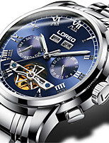 Men's Fashion Watch Mechanical Watch Automatic self-winding Stainless Steel Band Silver