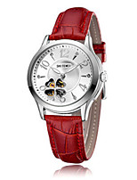 Women's Fashion Watch Mechanical Watch Automatic self-winding Leather Band Red