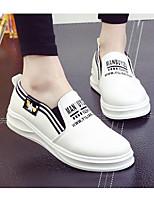 Damen Loafers & Slip-Ons Komfort PU Frühling Alltag Komfort Weiß Schwarz Rot Flach