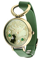 Women's Fashion Watch Quartz Leather Band Green