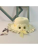 Для девочек Очаровательный На каждый день Декоративные Шапки Шляпа от солнца,Весна/осень Лето Солома Однотонный