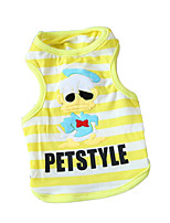 Dog Shirt / T-Shirt Dog Clothes Cute Sports Casual/Daily Cartoon Rainbow Blue Red Yellow