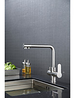 Modern/ContemporaryCeramic ValveBrushed , Kitchen faucet