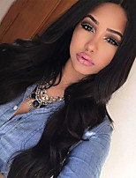 Human Virgin Hair Natural Loose Wave Lace Front Wig Black Color Lace Wig with Baby Hair For Black Women