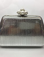 Women Evening Bag PU All Seasons Formal Event/Party Minaudiere Push Lock Silver Black Gold Champagne
