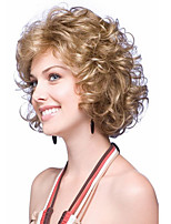Short Wavy Synthetic hair Wigs with Blond Deep Curl Women Wigs Heat Resistant Synthetic Wig