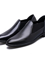 Men's Loafers & Slip-Ons PU Spring White Black Flat