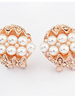 Euramerican Fashion Elegant Luxury Pearl  Stud Earrings Lady Casual Stud Earrings Jewelry Gift