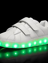 Мальчики Кеды Обувь с подсветкой Термопластик Лето Осень Повседневные Обувь с подсветкой LED На низком каблуке Белый Черный Светло-лиловый
