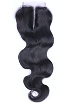 10-20inch Body Wave Brazilian Hair Lace Closure 4*4 Middle Part Human Hair Closure