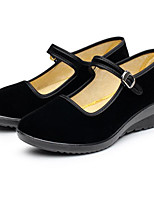 Women's Flats Comfort Suede Spring Daily Black Flat