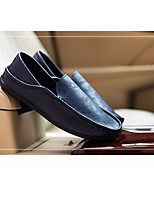 Herren Loafers & Slip-Ons Komfort Leinwand Frühling Lässig Weiß Schwarz Blau Khaki Flach