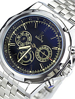 Men's Fashion Watch Mechanical Watch Automatic self-winding Water Resistant / Water Proof Alloy Band Black Silver