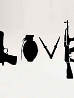Wall Stickers Wall Decals Style Gun Personality PVC Wall Stickers