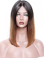 Premier®New Style Straight Lace Front Ombre Human Hair Wigs-Glueless 130% Density 100% Unprocessed Brazilian Virgin Remy Lace Wigs with Baby Hair