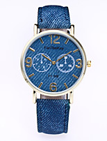 Women's Vintage Denim Quartz Leather Band Casual Fashion Watch