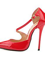 Femme Chaussures à Talons Escarpin Basique Polyuréthane Eté Automne Soirée & Evénement Escarpin Basique Talon Aiguille Noir Rouge12 cm &
