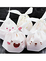 50 / Package Cute Long Ears Bags Snack Bags Bags Rabbit Candy Biscuits