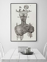 Abstract 3D Framed Art Wall Art PS Material Black No Mat With Frame For Home Decoration Frame Art