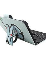 Étui pour ipad avec clavier usb version anglaise 7-8 pouces sac en cuir universel puff pour cuir ipad mini123 mini4